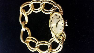 1930's Elegant Woman vintage Sutton Swiss Made watch, Gold link chain style,rare