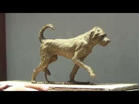 'Scout the Dog' - Clay Sculpture Step by Step - K. Barton, artist