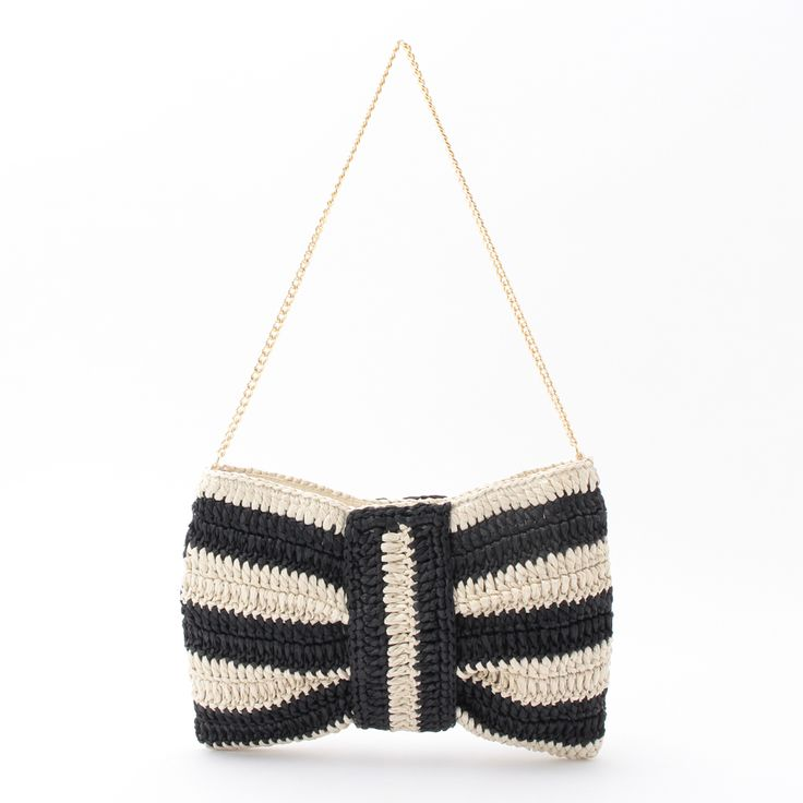 OPAQUE crochet clutch bag