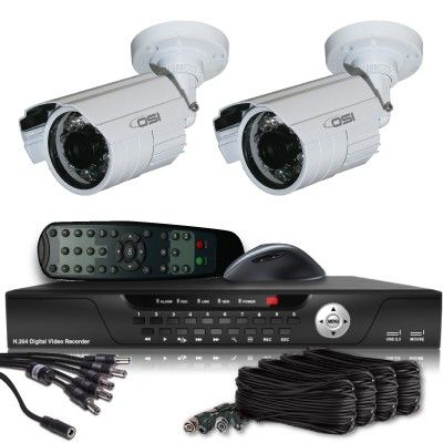OSI CCTV Security Systems - 2 Camera Value Series D1 Security System (Indoor/Outdoor Weather Proof 600TVL Bullet), $349.00 (http://www.osicctv.com/2-camera-value-series-d1-security-system-indoor-outdoor-weather-proof-600tvl-bullet/)