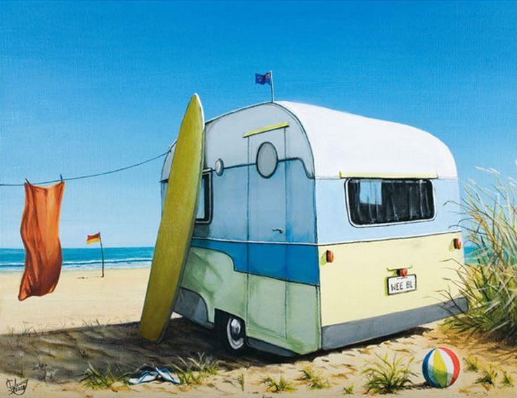 Wee Belle Caravan by Graham Young. imagevault.co.nz http://es.pinterest.com/imagevault/beach-culture/