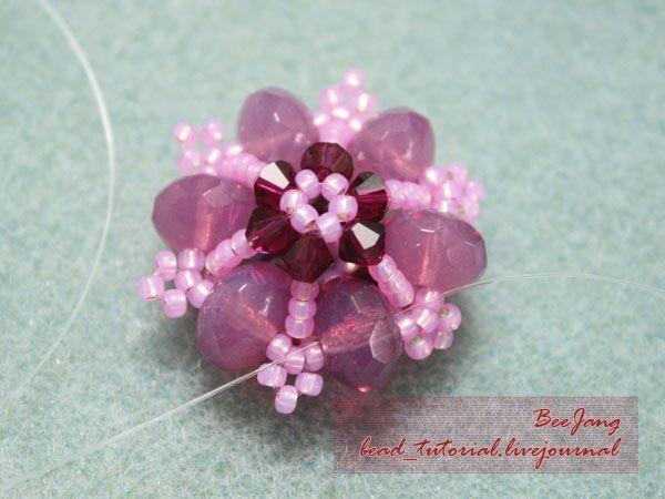 Bead Tutorial - [Tutorial] Flower Motif #5