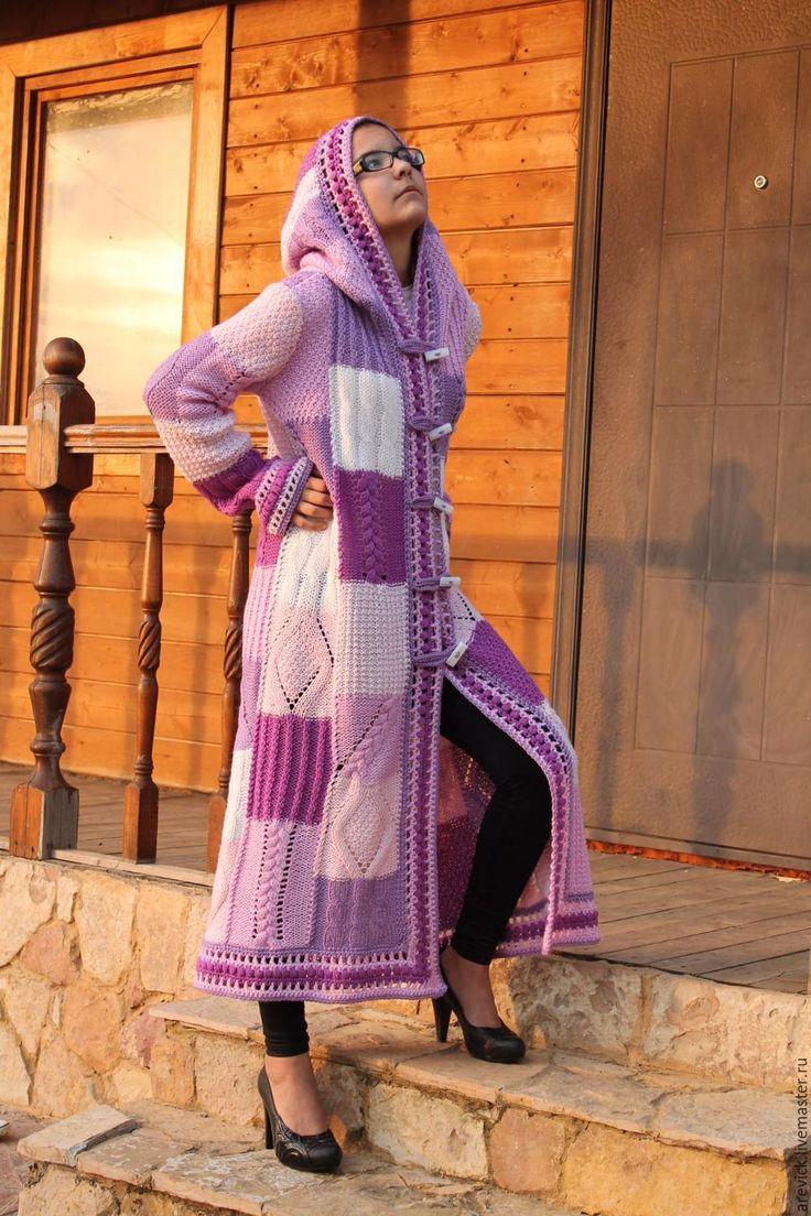 Купить Летнее пальто в стиле пэчворк. - комбинированный, кардиган, кардиган вязаный, кардиган ручной работы