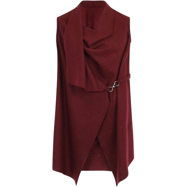 Elvi Maroon Sleevless Gilet ($51) ❤ liked on Polyvore featuring outerwear, vests, jackets, clearance, maroon, gilet vest, wool waistcoat, wool vest, red waistcoat and red vest