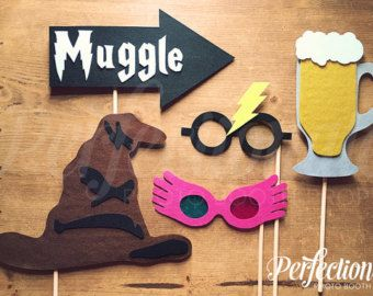Harry Potter Photo Booth Props INSTANT by OutlawHeartPaperCo