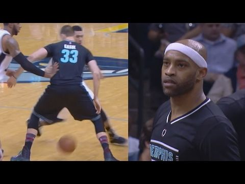 Vince Carter 4 Blocks at Age 40! Gasol Through Legs Fade! Spurs vs Grizzlies - YouTube