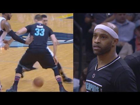 Vince Carter 4 Blocks at Age 40! Gasol Through Legs Fade! Spurs vs Grizzlies - YouTube