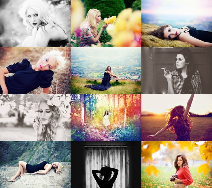 I love the creative and different styles of photography I find at chiccritiqueforum... (Alex Beadon Collage) LOVE the rainbow processing!