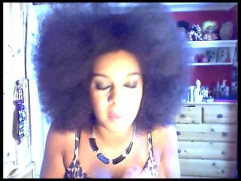 HOW TO DETANGLE AND COMB AFRO HAIR PART 3