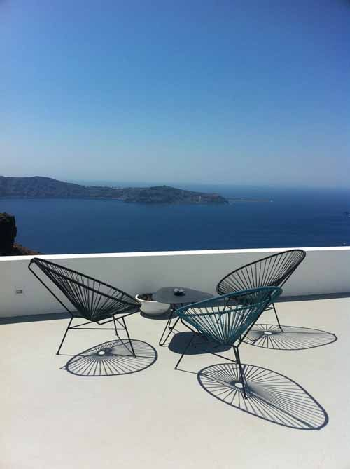 Outdoor Furniture   Outdoor Sofa U0026 Seating Sets   Babmar   Santorini Chair   All White