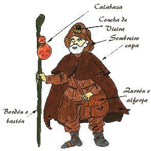 DISFRAZ PEREGRINO   buscador de disfraces: Disfraz de peregrino del camino de Santiago
