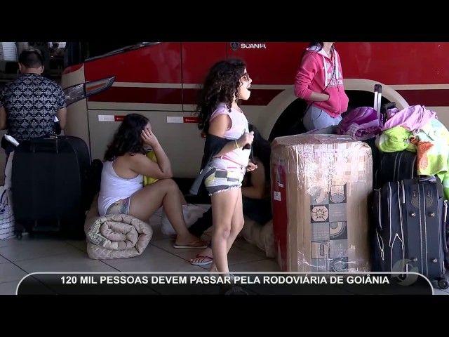 JMD (15/06/17) - Movimento Rodoviária de Goiânia no feriado Corpus Christi