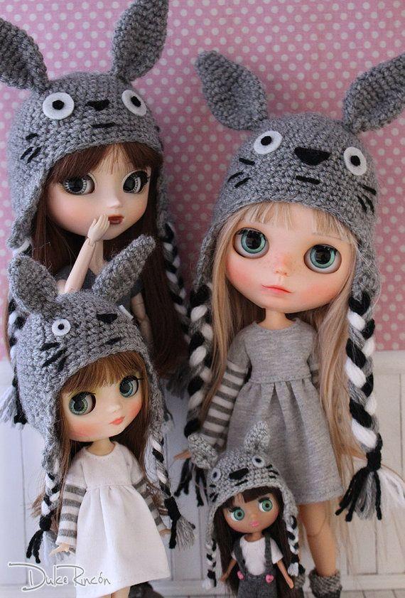 Gorro Totoro para Blythe, Pullip, Middie y Petite Blythe