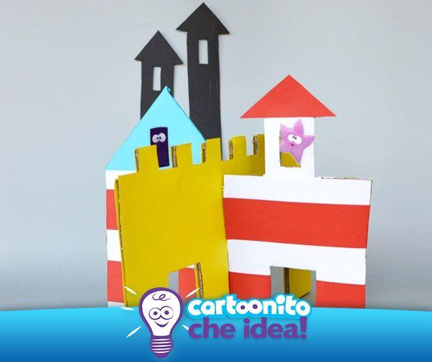 Realizziamo un castello in casa con pochi materiali e tanta fantasia. Tutte le istruzioni per realizzarlo sono su #Cartoonitocheidea