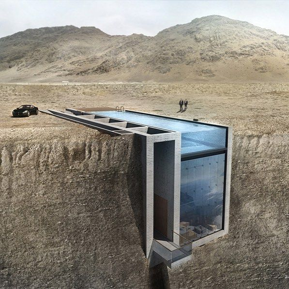 An incredible space carved into the side of a cliff by Nick Brink at OPA via morpholio.jpg