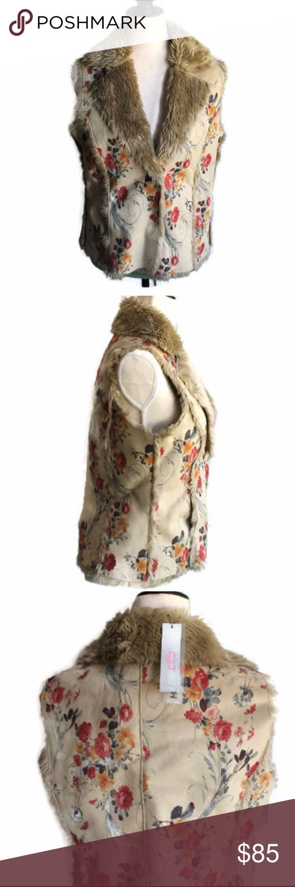 "Per Una Faux Fur Vest-Sz S Per Una by Marks & Spencer Faux Fur Vest Size: S Snap Closure Chest: 19"" across Length: 23"" Shell: 100% Polyester Backing: 79% Acrylic    21%  polyester Brand New with Tags! per una Jackets & Coats Vests"