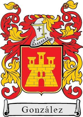 Escudo heráldico principal de González.
