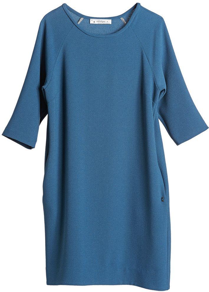Ottod'ame Kjole blå DA2799 Maglieria Abito - Azzurro – Acorns