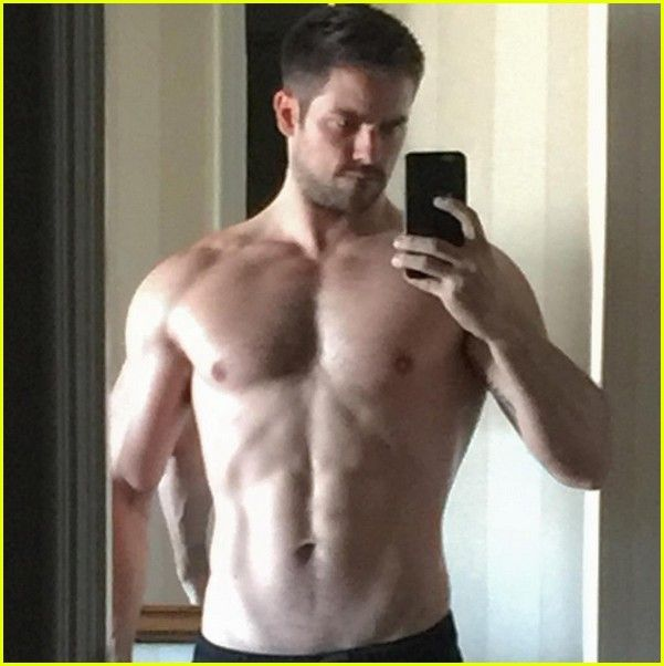 brant daugherty goes shirtless fifty shades set 03