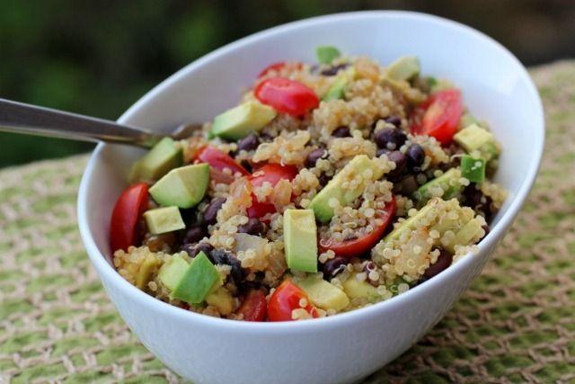 Mexican Quinoa with Black Beans & Avocado