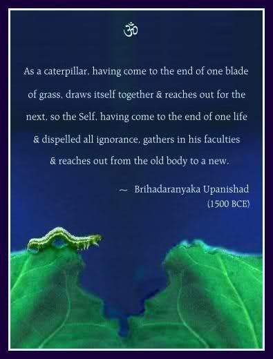 Process of rebirth, as told in the Upanishads
