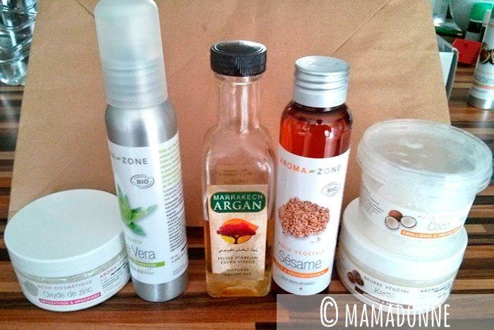 faire sa crème solaire (oxyde de zinc + huiles)