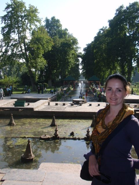 Me at Mughal Garden, Srinagar