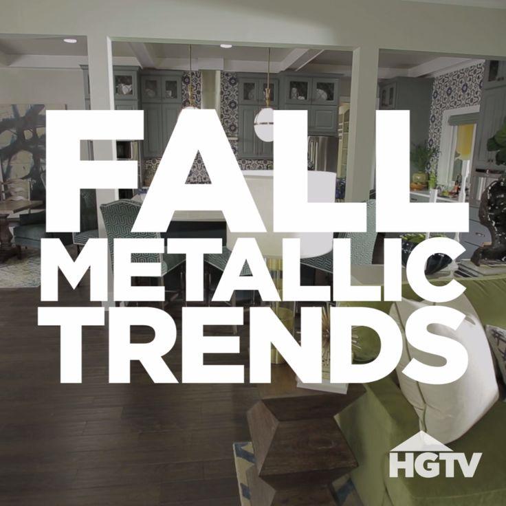 Metallic Trends In Fall Decor