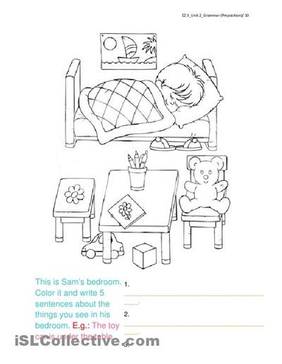 coloring page for goldilocks vocab esl esl teachers corner worksheets. Black Bedroom Furniture Sets. Home Design Ideas