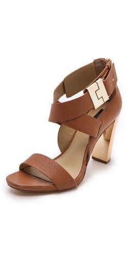 Rachel Zoe Brooklyn Metallic Heel Sandals | SHOPBOP