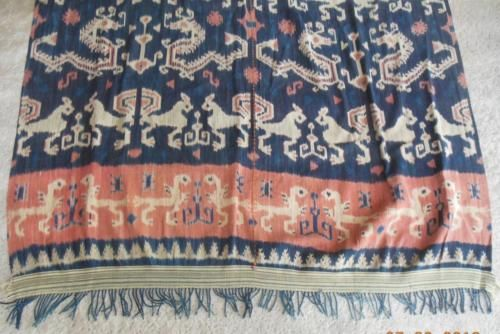 Antique Sumba Ikat hand woven traditional tapestry from Indonesia