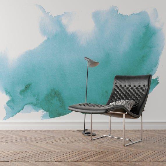 Watercolor Wall Mural Watercolor Wallpaper Adhesive Wallpaper