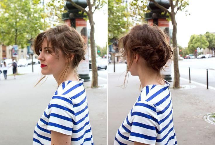 Chignon bas noué | The reporthair Découvrez comment réaliser cette coiffure ici : http://thereporthair.fr/chignon-bas-noue/