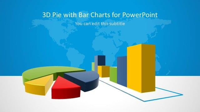 SlideModel: 3D pie chart and bar charts for PowerPoint  | #businessPowerPoint presentations