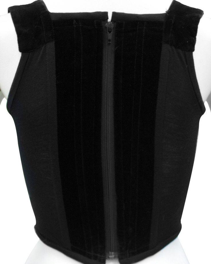1980's Vivienne Westwood Black Velvet Bustier 4