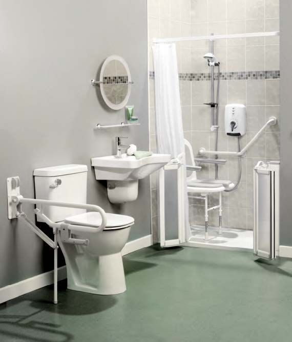 Handicap accessible bathroom accessories for Handicapped accessible bathroom plans