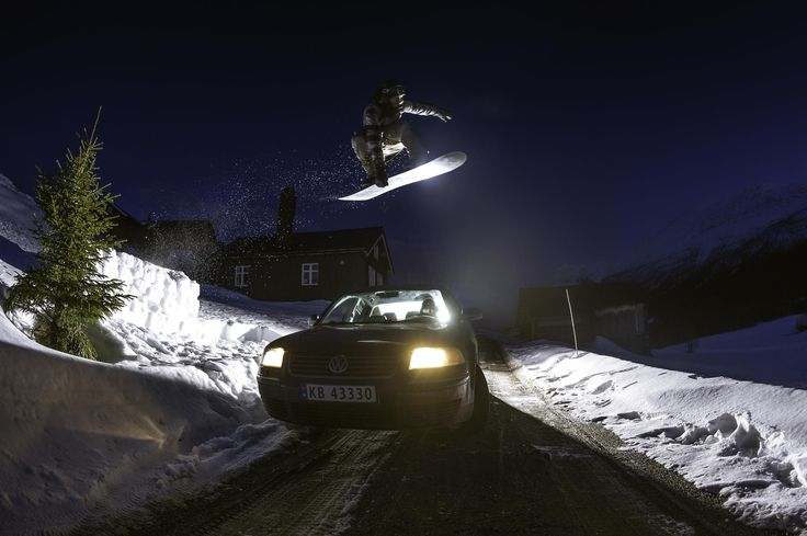Mikkel shredding in his backyard just outside Hemsedal Norway!
