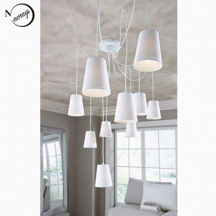 Modern Fashion large spider braided chandeliers white