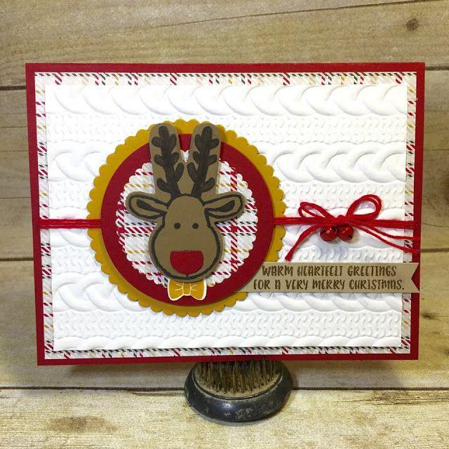 Holiday Catalog Sneak Peek - Cable Knit Embossing Folder | StampinTX | Bloglovin'