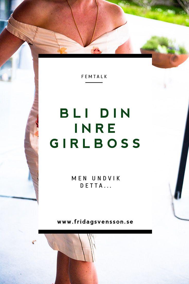 Vad förenar alla framgångsrika tjejer och kvinnor? Vad är det egentligen som gör att alla vill vara girlbosses? Och varför är det viktigt  att vara en girlboss? Allt om detta skriver jag om i bloggen idag! www.fridagsvensson.se