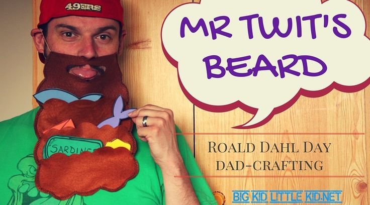 Make a Mr Twit's Beard for your kids - dress up costume & game all in one! Get crafty for Roald Dahl Day, without gluing your furniture to the ceiling.