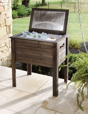 Kirkland's: Standing Wooden Cooler...working on my own creation of one of these