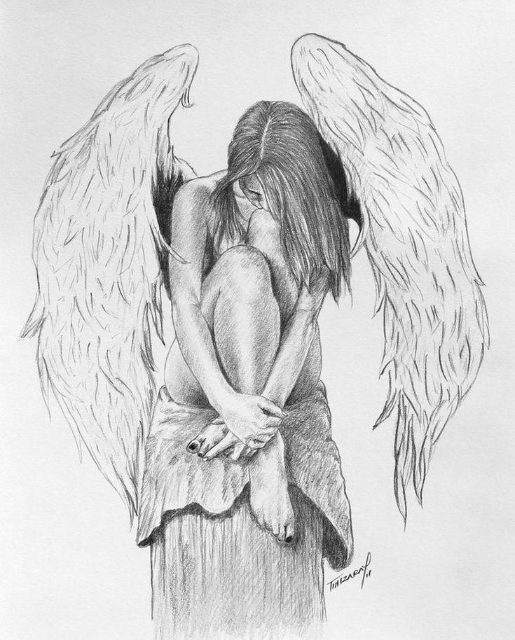 грустный ангел картинки карандашом авторские обои так