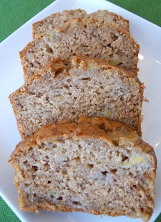 Banana Bread: made with applesauce. Took me less than 5 mins to whip it together with ingredients I had on hand.