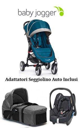 Baby Jogger è QUALITA' e PRATICITA'. Scopri la nostra offerta:  Trio Baby Jogger City Mini 4 con Navicella Compact € 699 http://www.lachiocciolababy.it/passeggini-trio-4-ruote/7346-trio-baby-jogger-city-mini-4-2014-black.html#/colore-teal_gray