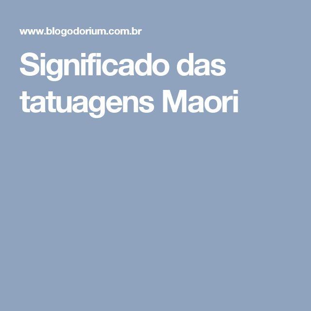 Significado das tatuagens Maori