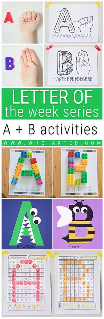 Don't let your child fall behind over the summer! Here are 10 learning-based activities to keep them engaged! http://www.who-arted.com/2017/06/21/letter-of-the-week-letters-ab/