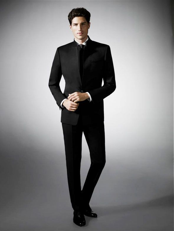 Ryan Kennedy's black suit designed by Myriam Bensaid from Esmod for Hugo Boss. l #style