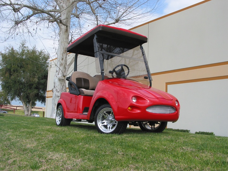 Jaguar front body kit on the Club Car Precedent golf car