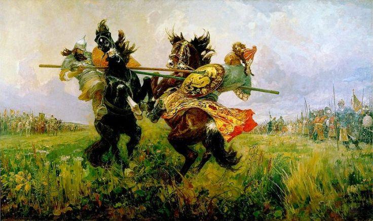 За други своя… Легенды русского воинства – православные богатыри Александр Пересвет и Андрей Ослябя